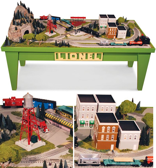 The Genuine Lionel Store Display Diorama (Images courtesy Hammacher Schlemmer)