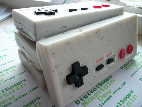 Mountain Dew Scented NES Controller Soap (Image courtesy Etsy)