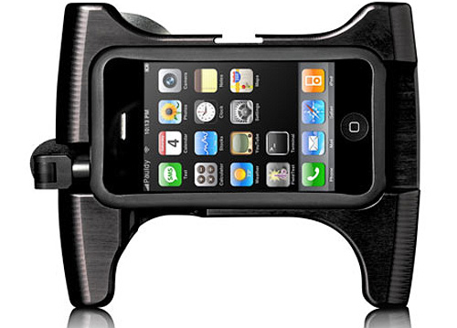 OWLE iPhone Video/Audio Rig (Image courtesy ThinkGeek)