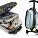 Samsonite Trolley Luggage Features A Built-in Scooter