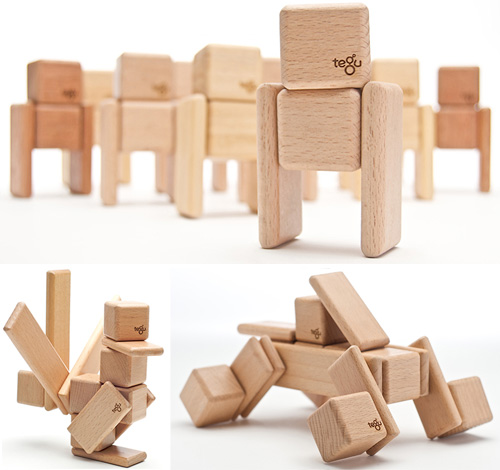 Tegu Wooden Building Blocks (Images courtesy Tegu)