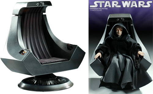 star wars emperor chair. The Imperial Throne 1:6 Scale (Images c**rt*sy StarWarsShop.com)