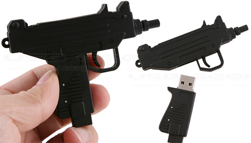 Machine Gun USB Drive (Images courtesy USB Geek)