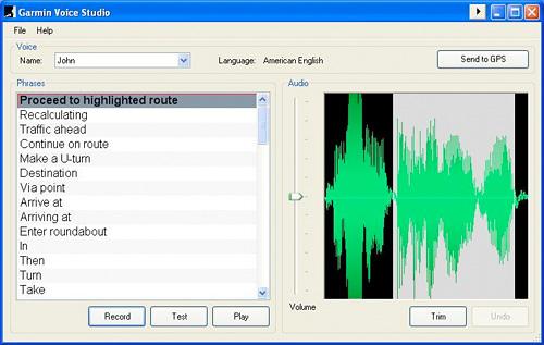 Garmin Voice Studio (Image courtesy Garmin)