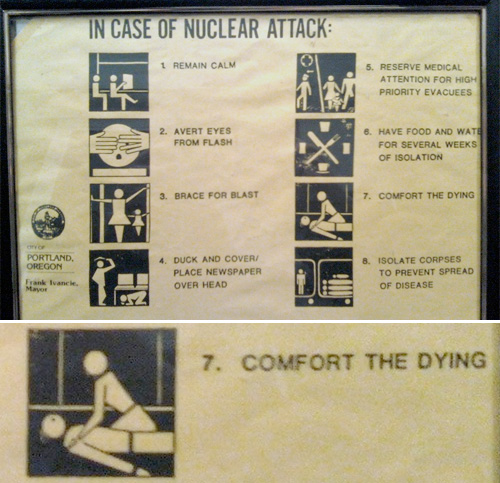 In Case Of Nuclear Attack (Image courtesy mappeal)