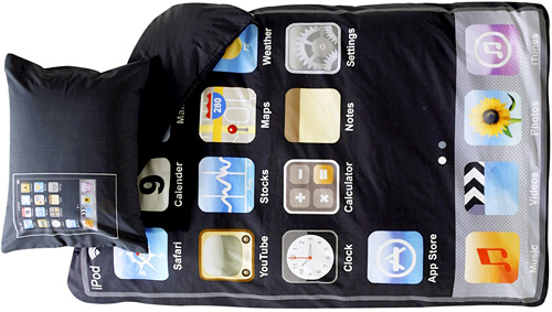 iPod Touch Themed Bedding (Image courtesy ellos)