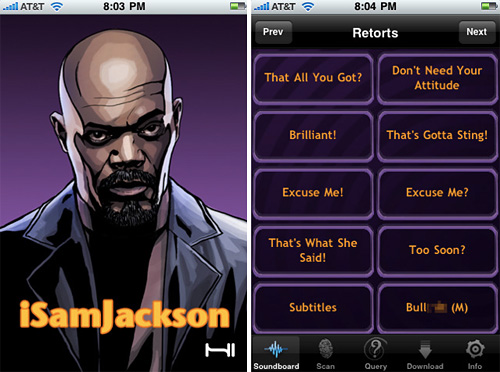 iSamJackson (Images courtesy the iTunes App Store)