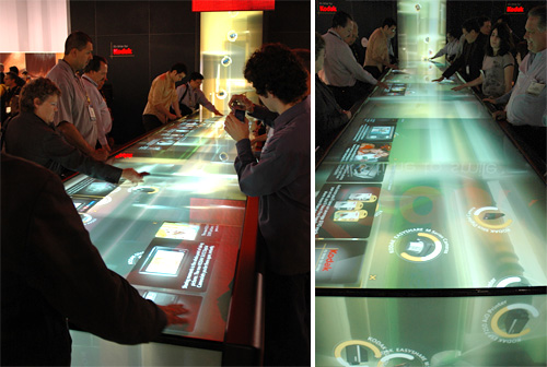 Kodak's Giant Multi-touch River (Images property OhGizmo!)