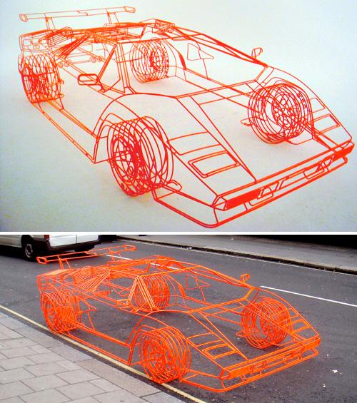 Wireframe Lamborghini Koenig Countach (Images courtesy Benedict Radcliffe)