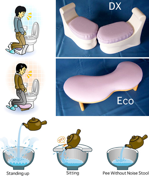 Pee Without Noise Stool (Images courtesy the Japan Trend Shop)