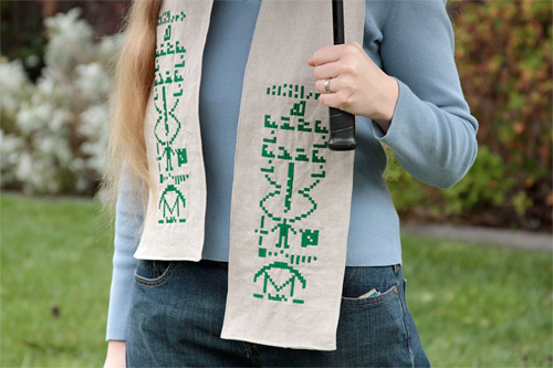 Arecibo Scarf (Image courtesy Evil Mad Scientist Laboratories)
