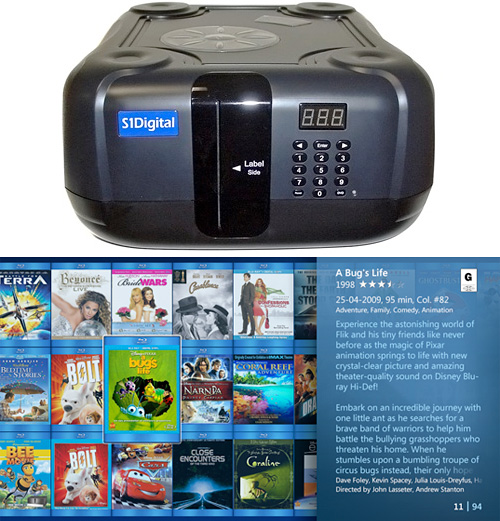 S1Digital 100 Disc Blu-ray Changer (Images courtesy S1Digital)