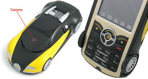 'Bugatty' Car-Shaped Cellphone (Images courtesy UCables)