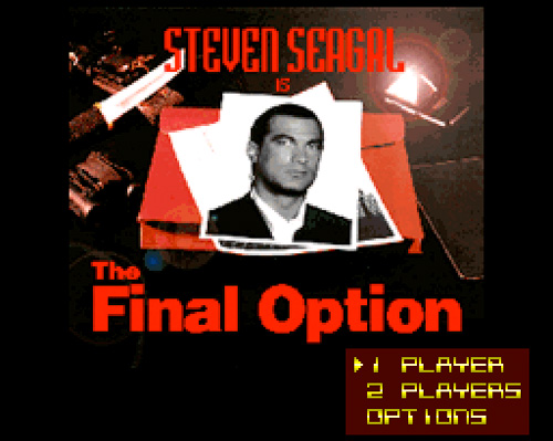 'Steven Seagal Is: The Final Option' SNES Game (Image courtesy 1UP)