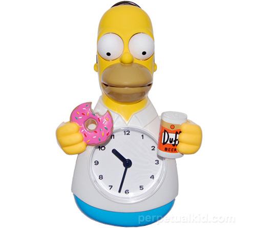Animated Homer 'Beer Vs. Donut' Clock (Image courtesy Perpetual Kid)