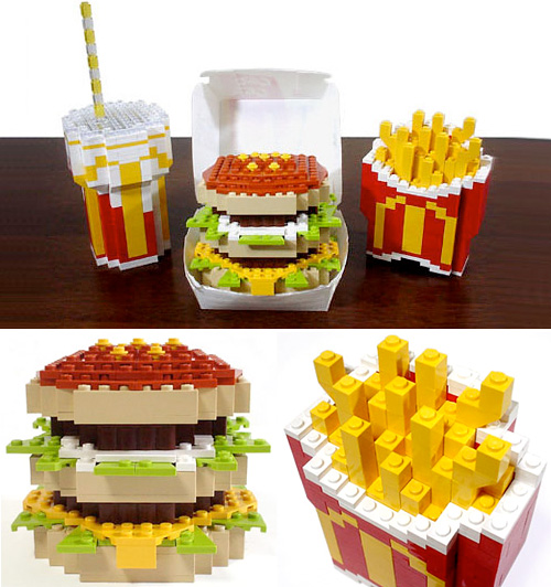 LEGO Big Mac Combo (Images courtesy designboom)