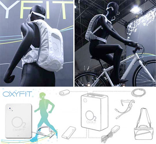 Oxyfit Personal Oxygen Booster (Images courtesy the Japan Trend Shop)
