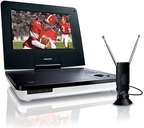 Philips Portable DVD Player With Digital TV Tuner (Image courtesy Philips)
