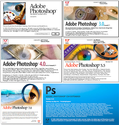 Photoshop Turns 20 On February 10 (Images courtesy Adobe)