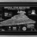 Imperial Star Destroyer Framed SpecPlate