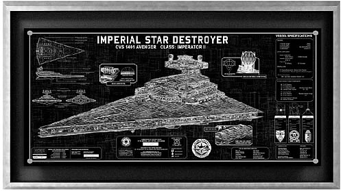 Imperial Star Destroyer Framed SpecPlate (Image courtesy Entertainment Earth)