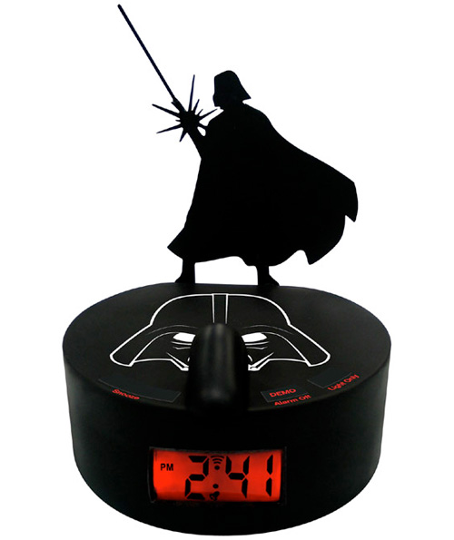 Darth Vader Shadow Alarm Clock (Image courtesy StarWarsShop.com)