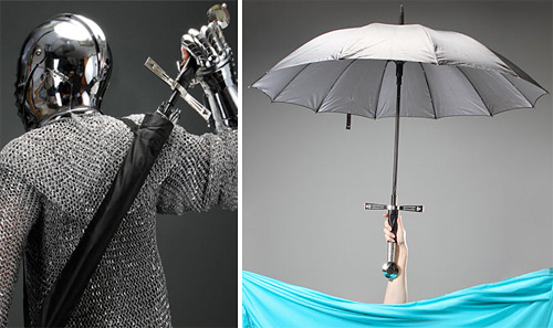 Broadsword Handle Umbrella (Images courtesy ThinkGeek)