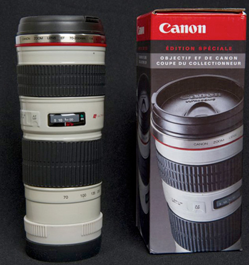 Canon Zoom Lens Thermos (Image courtesy Josh Weisberg)