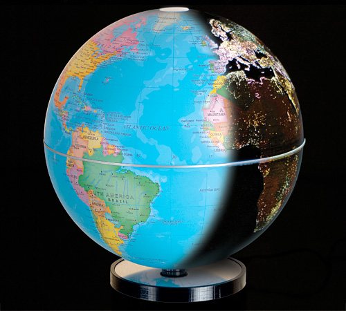 City Lights Earth Globe (Image courtesy Fascinations)