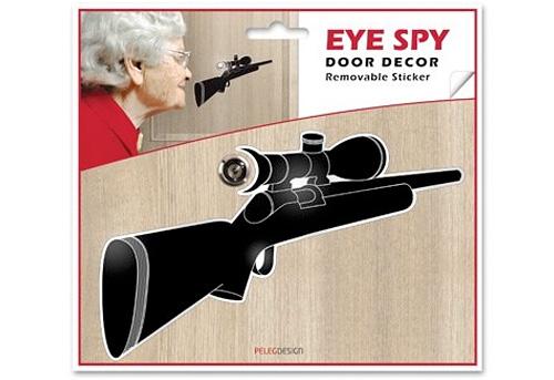 Eye Spy Sniper Rifle Peephole Decal (Image courtesy Monkey Business)