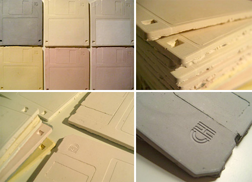 Floppy Disk Ceramic Tiles (Images courtesy ENESS)