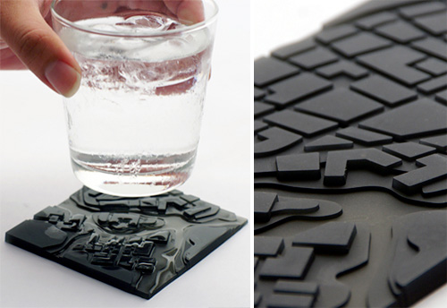 Flowing City Coasters (Images courtesy MollaSpace)