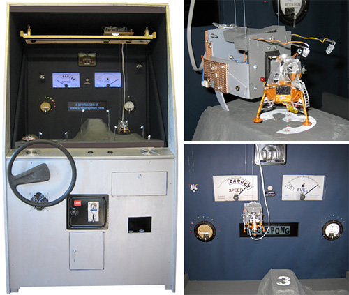 Lunar Lander Arcade Machine (Images courtesy Iain Sharp)