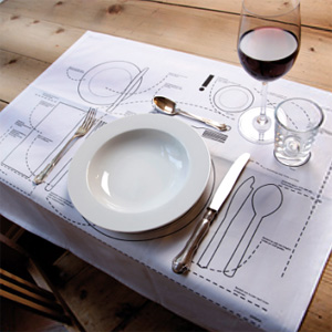 Place Setting Placemats (Image courtesy Donkey Products)