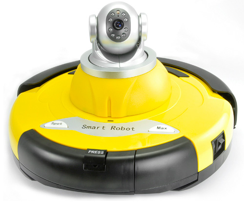 Intelligent Robot Vacuum Cleaner with Wireless IP Camera (Image courtesy Chinavasion)