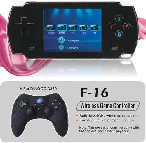 Dingoo A-330 Game King (Image courtesy GBAtemp)
