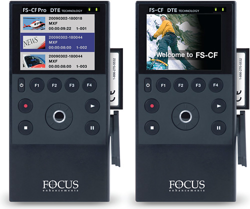 FS-CF and FS-CF Pro Solid State Video Recorders (Images courtesy Canon)