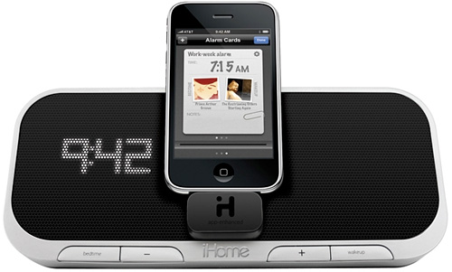iA5 - App-Enhanced Alarm Clock Speaker System for iPhone and iPod (Image courtesy iHome)