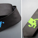 Silk Space Invaders Tie – Because 'Black Tie Event' Is Open To Interpretation