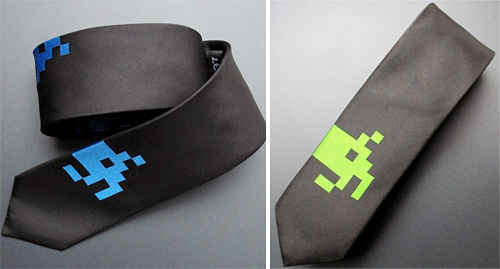 Silk Space Invaders Tie (Images courtesy Since 1337)