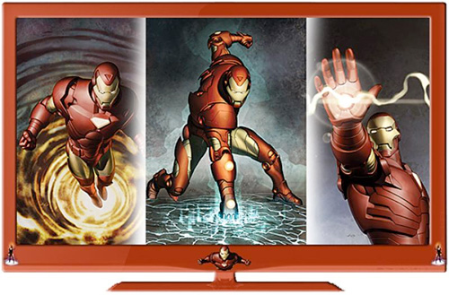 RTC23 Iron Man Branded LCD HDTVs (Image courtesy RTC23)