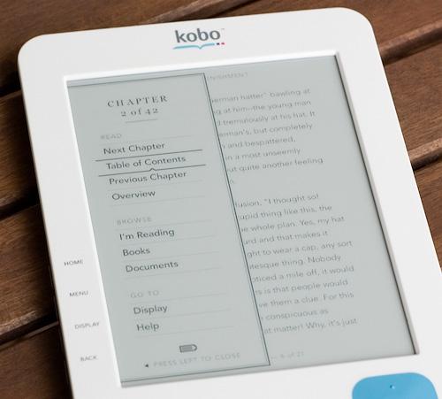 Kobo eReader (Image property OhGizmo!)