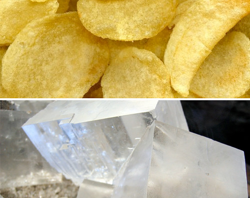 Potato Chips & Salt (Images courtesy Rainer Zenz (GFDL licensed) & Wikimedia)