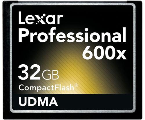 Lexar Professional 600x 32GB CF Card (Image courtesy Lexar)