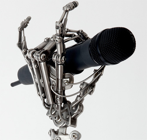 Biomechanical Mic Stand (Image courtesy Wired)