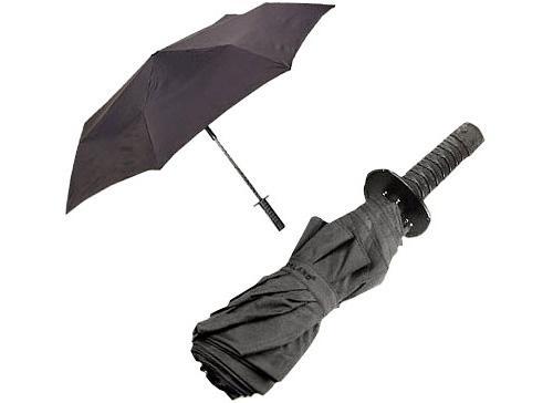 Mini Samurai Sword Handle Umbrella (Image courtesy Geek Stuff 4 U)