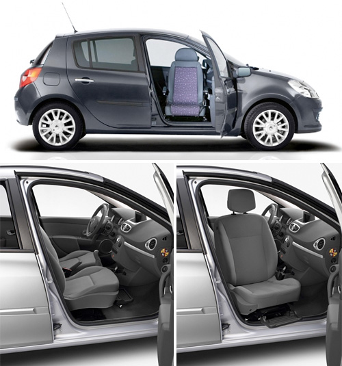 Renault Clio Swivel Seat (Images courtesy Renault)