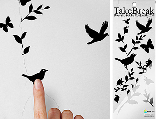 TakeBreak Wall Decal (Images courtesy MollaSpace)