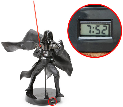 Darth Vader Japanese Desk Clock (Images courtesy ThinkGeek)