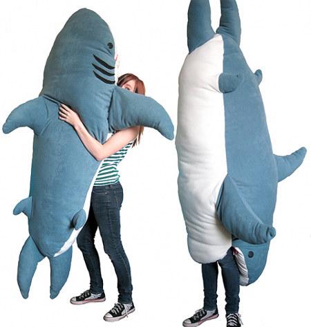 Giant Stuffed Shark chumbuddy is a giant man-eating plush | ohgizmo!
